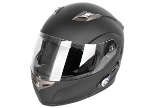 casco de moto integral con intercomunicador incorporado